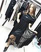 Спортивное молодежное платье  с сеткой от груди и накаткой Fendi,турецкий трикотаж, 48-52/44-48/, фото 4