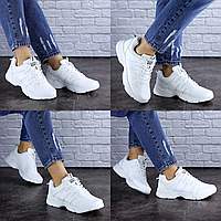 Женские белые кроссовки Caitlyn 1719 Эко-кожа . Размер 38 - 24,5 см. Обувь женская