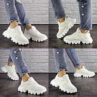Женские белые кроссовки Czar 1645  эко-кожа сетка  Размер 38 - 23,5 см по стельке, обувь женская