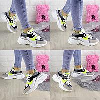 Женские белые кроссовки Jacob 1303  эко-кожа эко-замша  Размер 37 - 23,5 см по стельке, обувь женская