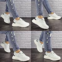 Женские белые кроссовки Jagger 1633  эко-кожа сетка  Размер 39 - 25 см по стельке, обувь женская