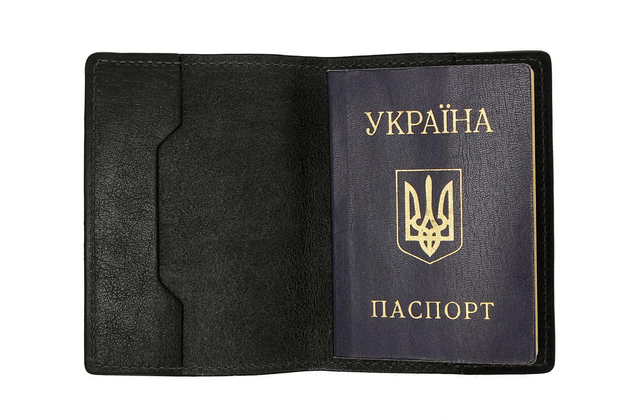 Обложка для паспорта, черный глянец