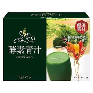 HIKARI Aojiru Enzyme органічний сік паростків ячменю + 82 виду ферментованих овочів 25 пакетів по 3 гр