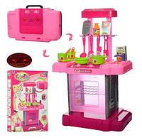 Детский набор Кухня 661-60 розовая в чемодане для маленькой хозяйки