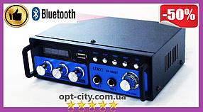 Підсилювач звуку UKC SN-666BT FM USB 2x300W Блютуз + Караоке