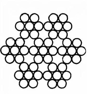 Канат стальной оцинк. 1,6мм ГОСТ2172 6x7+1х7+м.с.