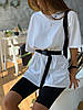 Женский летний костюм с велосипедками и футболкой, фото 5