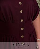 Базовое хлопковое платье Большие размеры от 50 до 58, фото 3