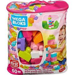 Конструктор Mega Bloks - Первые строители (First Builders, Pink) розовый, 60 дет, 1+ (DCH54)