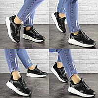 Женские летние черные кроссовки Brazil 1657 эко-кожа сетка . Размер 38 - 24,5 см. Обувь женская