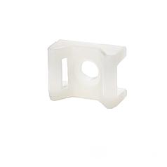 ElectroHouse Площадка под винт для стяжки [хомутов] 5,8 мм 16,5х22 мм белая нейлон
