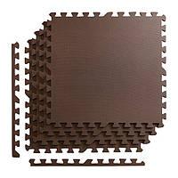 Мат-пазл, ласточкин хвост 4FIZJO Mat Puzzle Eva 120 x 120 x 1 cм 4FJ0074 Braun SKL41-227862