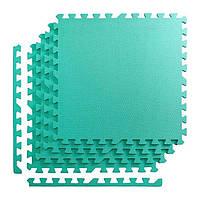 Мат-пазл, ласточкин хвост 4FIZJO Mat Puzzle Eva 120 x 120 x 1 cм 4FJ0077 Mint SKL41-227865