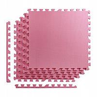 Мат-пазл, ласточкин хвост 4FIZJO Mat Puzzle Eva 120 x 120 x 1 cм 4FJ0079 Pink SKL41-227867