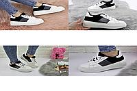Женские стильные кроссовки белые Rory 1169  эко-кожа эко-замша  Размер 37 - 23,5 см по стельке, обувь женская