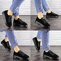 Женские черные замшевые кроссовки Ruby 1689 Размер 41 - 25 см по стельке