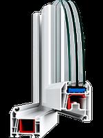 Металлопластиковые ПВХ конструкции, профиль WHS 60