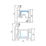 Металлопластиковые ПВХ конструкции, профиль WHS 60, фото 2