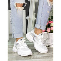 Кросівки білі шкіряні 7323-28, фото 1