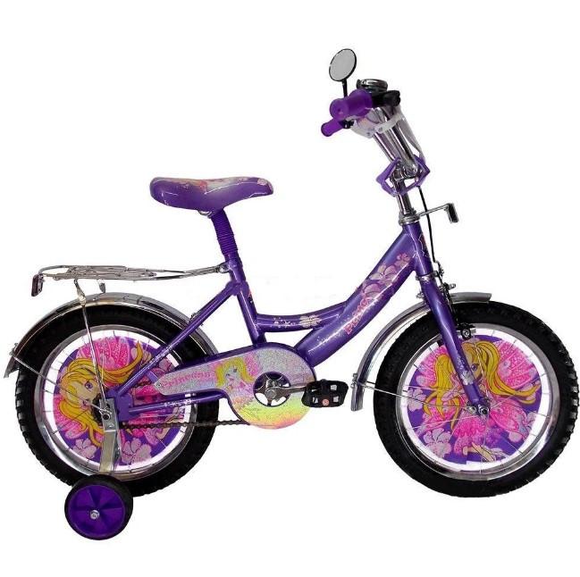 """Дитячий велосипед Winx 14"""" фіолетовий"""