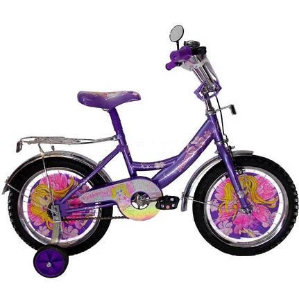 """Дитячий велосипед Winx 14"""" фіолетовий, фото 2"""