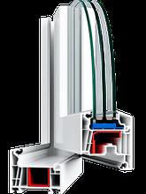 Металлопластиковые ПВХ конструкции, профиль WHS 72