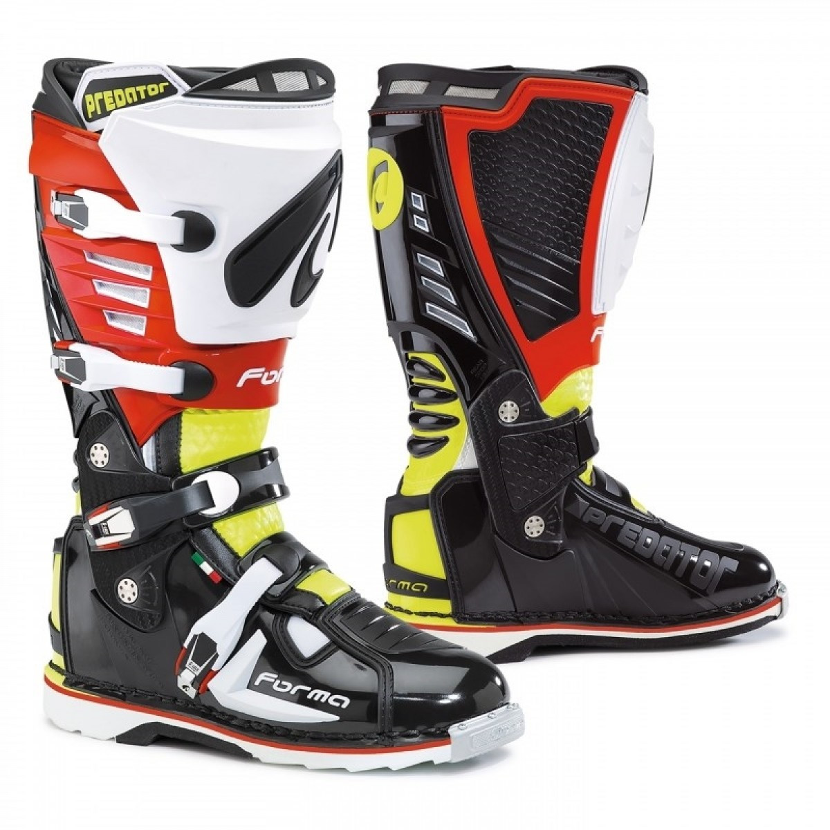Мотоботы FORMA PREDATOR black yellow fluo red