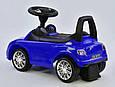 Детская каталка-толокар c музыкальным рулем и багажником, русская озвучка JOY R - 0033, Синий, фото 5