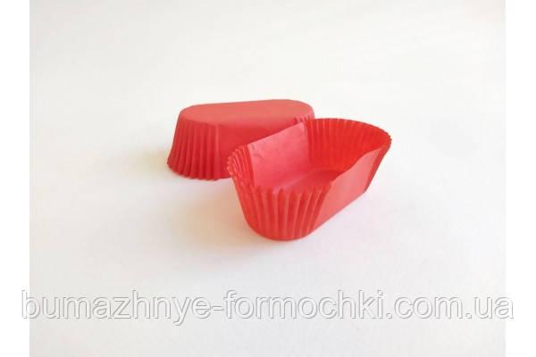 Красная бумажная форма П-8 (овальная)