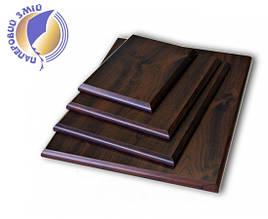 Подложка деревянная прямоугольная с отверстием для крепления (22х30см)