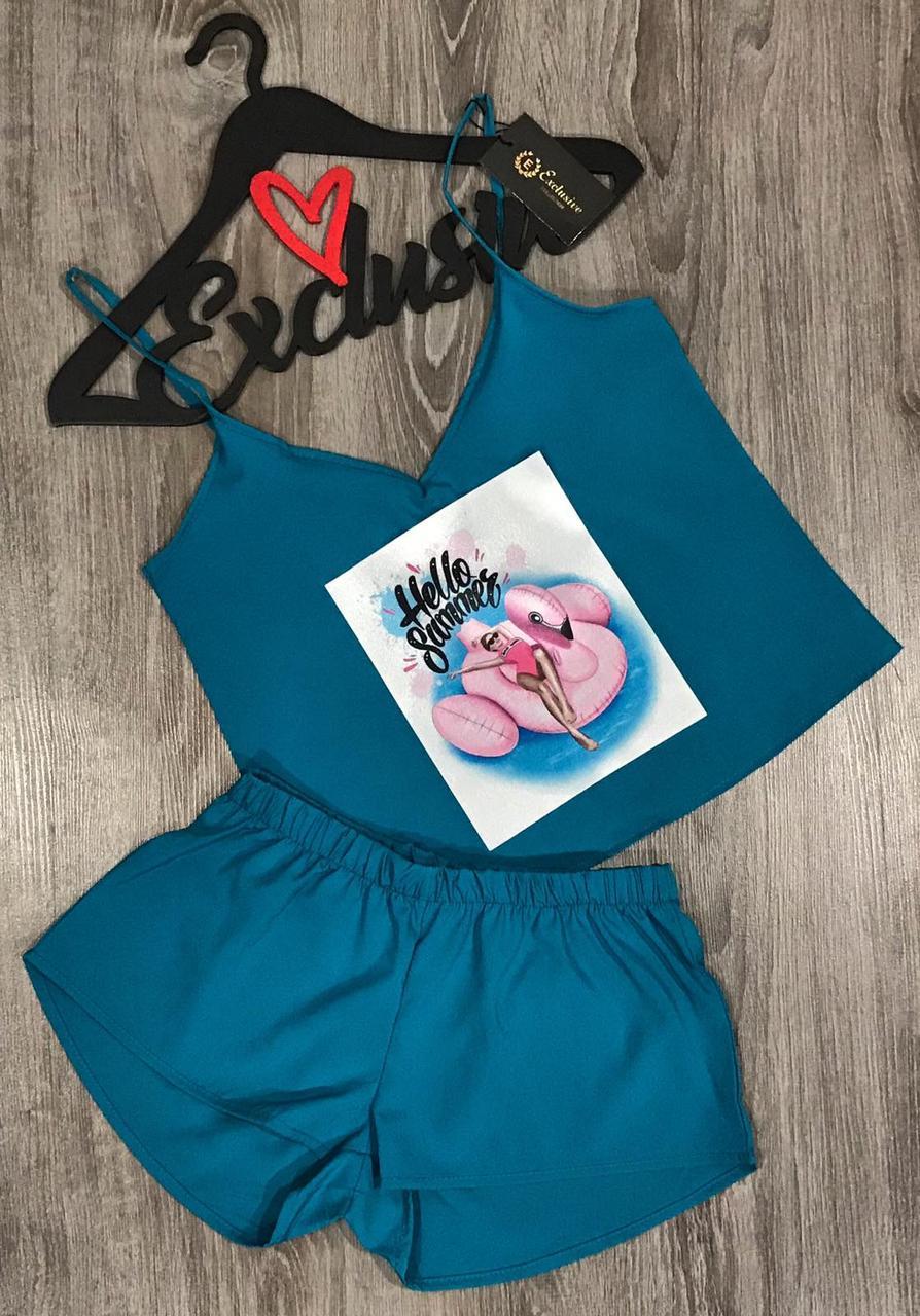 Яркий комплект майка шорты с рисунком ТМ Exclusive 021-18.