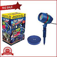 Лазерный рождественский проектор Star Shower Motion