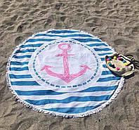Круглое пляжное покрывало (полотенце) Anchor