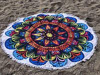 Круглое пляжное покрывало (полотенце) Оrnament