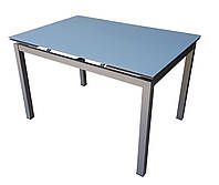 Стол обеденный раскладной стеклянный серый DAOSUN DT-8110