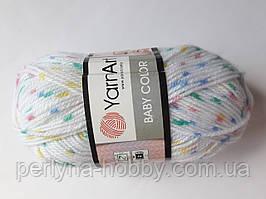 Нитки для в'язання пряжа  акрилова дитяча Baby Color? YarnArt, 100% акрил 50 гр., 150 м ,