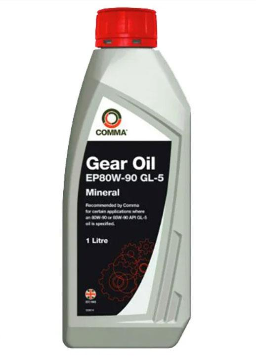 Трансмиссионное масло Comma EP 80W-90 GL-5 (1л)