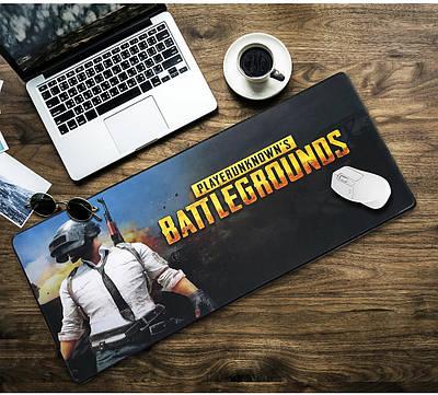 БОЛЬШОЙ геймерский коврик для мышки  игровая поверхность  BATTLEGROUNDS R-700 (70х30см)
