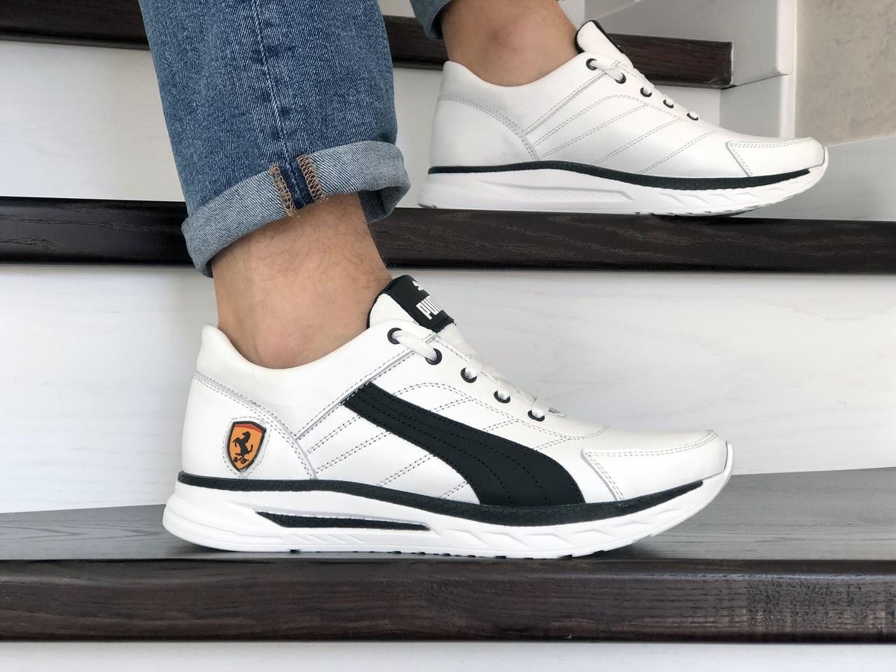Кожаные кроссовки Puma, белые