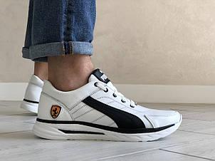 Кожаные кроссовки Puma, белые, фото 2