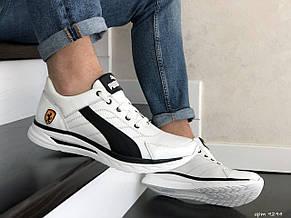 Кожаные кроссовки Puma, белые, фото 3