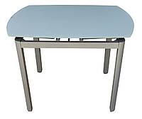 Стол обеденный раскладной стеклянный серый DAOSUN DT-8109