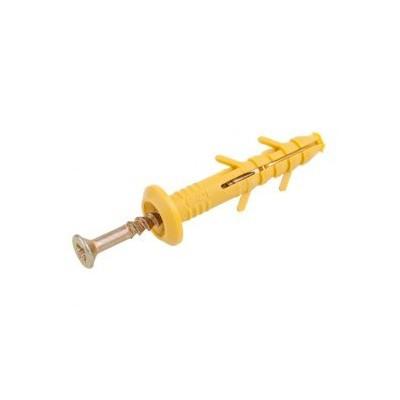 Дюбель ударный (грибок) с шурупом (быстрый монтаж) 6x40 мм  (100шт)