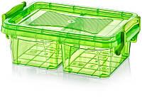 Контейнер пищевой прямоугольный  с перегородкой 0,5 л. SA-347. Irak plastik, Турция