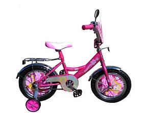 """Детский велосипед  Принцесса 14"""" розовый"""