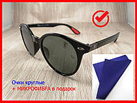Женские солнцезащитные фирменные очки Ray Ban Ferrari Panto стеклянные, форма ПАНТО (черные) унисекс