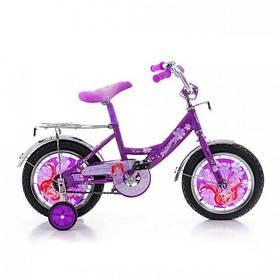 """Детский велосипед  Принцесса 16"""" фиолетовый"""