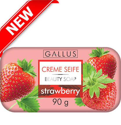 Мило Gallus Creme Seife Strawberry 90 г, фото 2