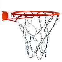 Сетка баскетбольная металлическая цепь 1 шт с крючками (без кольца)