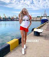 Прогулочный костюм летний футболка и шорты стильный 42 44 46 размеры Новинка 2020 есть цвета